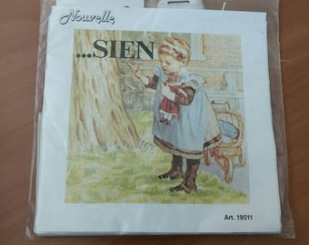 Vintage Embroidery Kit - Ot en Sien - New and Sealed - Dutch - Nostalgic