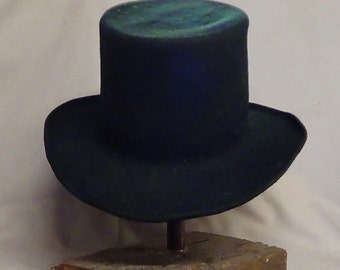 Classic Top Hat, Topper, Victorian top hat,n Steampunk Top Hat,  black top hat, top hat, vintage top hat, custom built hat,