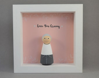 Personalised Peg Doll - Peg Doll Family - Personalised Gift - Wooden Peg People