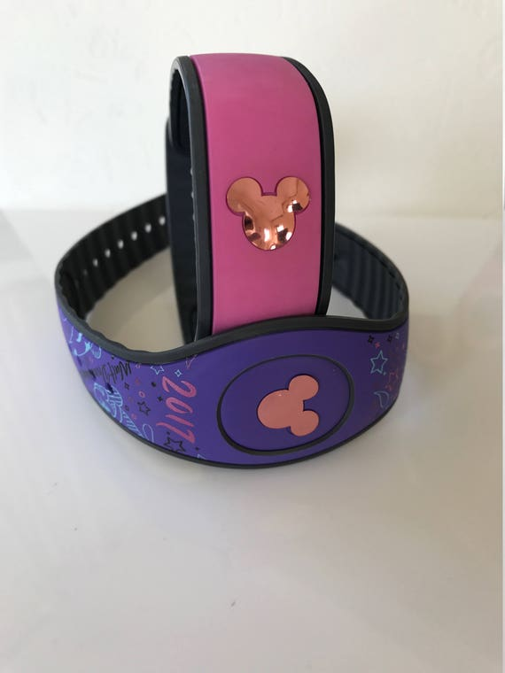 ROSE GOLD CHROME Mouse Head Vinyl Decal For The Magic Band - Magic band vinyl decals