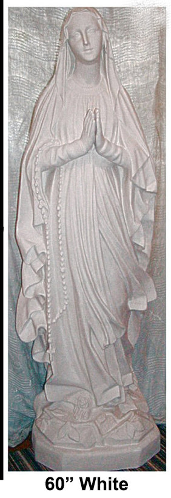 "Our Lady of Lourdes 60"" Fiberglass Catholic Christian Religious Mary Statue"