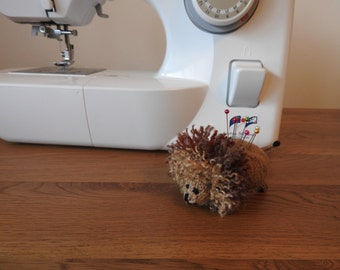 Lion Pin Cushion Critter, Desk Toy, #OOAK, Hand knitted