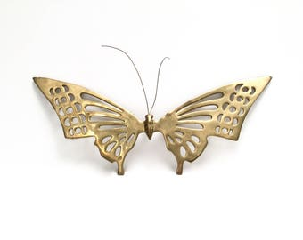 Vintage brass butterfly 14"