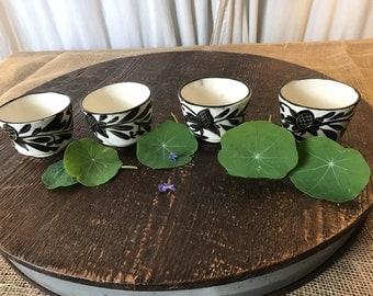 Set of Four Japanese Tea Cups