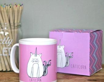 Cat Unicorn Mug and Box