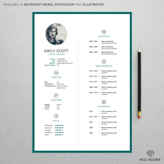 Professional Minimal Resume Template For Microsoft Word And