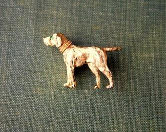 Nemo Pointer Pin Vintage Figural Dog Brooch