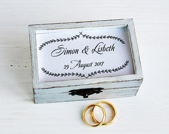 Rustic ring bearer box, Personalized ring box, Wedding Ring Box, Wedding box, Еngagement ring box Ring holder Custom ring box Your text box