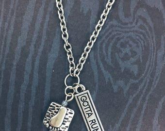 gotta run * runner's necklace