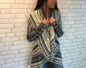 Poncho, Knitted Poncho,Knitted cardigan,, casual cardigan - Ricchi - one size