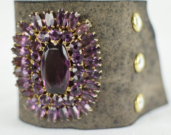 "Statement Jewelry - Amethyst Bracelet - Statement Jewelry - Victorian Runway Collection ""Victoria"" 249.99"