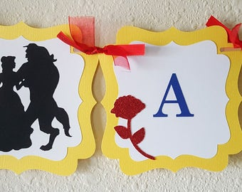 Beauty And The Beast Birthday Banner, A Tale As Old As Time, Be Our