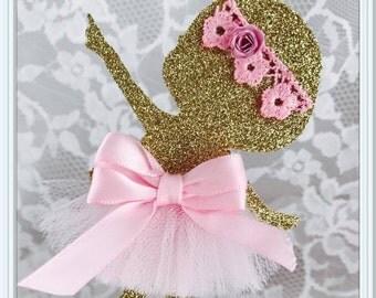 Baby Ballerina Cupcake Toppers - Ballerina Party Decorations - Ballerina Party Decor - Ballerina Birthday Party Cupcake Toppers - Babyshower