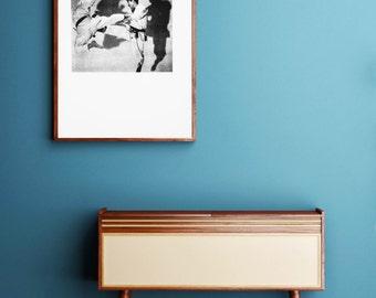 Karate Silkscreen Print: Black and White Pop Art, Kung Fu, Japanese Art, Andy Warhol, Home, Office, Gym Artwork, Japanese Print, Vintage Art