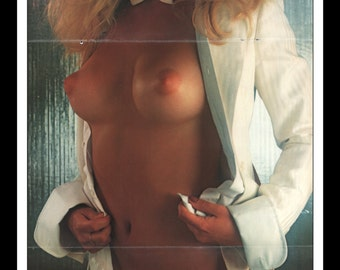 "Mature Playboy April 1978 : Playmate Centerfold Pamela Jean Bryant 3 Page Spread Photo Wall Art Decor 11"" x 23"""