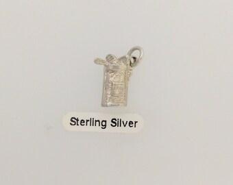 Silver Golf Clubs Charm