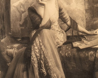 """Frank Eugene Photo """"Baroness Von W. of Vienna"""" 1900s"""
