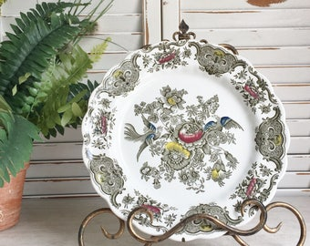 Ridgway Pottery Dinner Plate in the Windsor Pattern