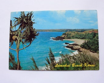 Lumahai Beach, Kauai Hawaii Postcard  / Kauai Postcard /Lumahai Beach postcard / Continental card of Hawaii