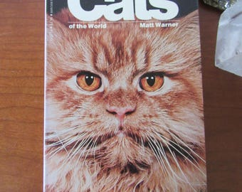 70s Vintage reference book Cats of the World