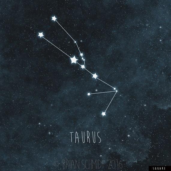 Taurus Nursery Art Constellation Print Zodiac Wall Art