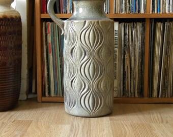 Vintage 70's SCHEURICH KERAMIK floor Vase, AMSTERDAM Onion Pattern Design, West Germany Ceramic Art Pottery, Fat Lava Era Mid Century Modern