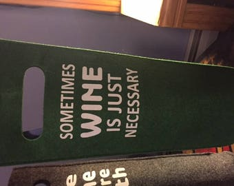 Felt Wine Tote--A Great Gift!!