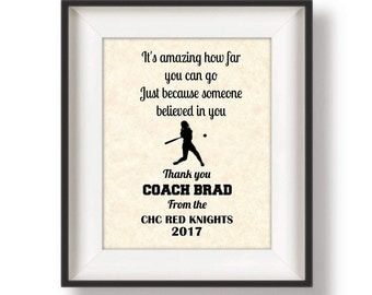 Coach Gift - Baseball Coach Gift - Soccer Coach - Personalized - Coaches Gift - Cheer Coach Gift - Track and Field - 8 x 10 - It's Amazing