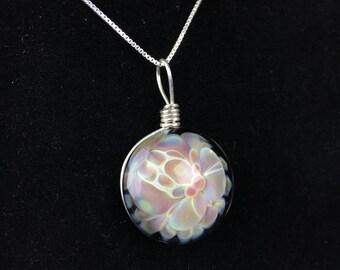 Glass Floral Pendant