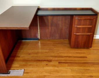 Danish Modern Teak Fold Away Desk / Cabinet