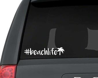Beachlife decal, Beachlife sticker, Beachlife hashtag, Beach car decal, Beach car sticker, Beach vinyl decal, Beach macbook decal, Beach bum