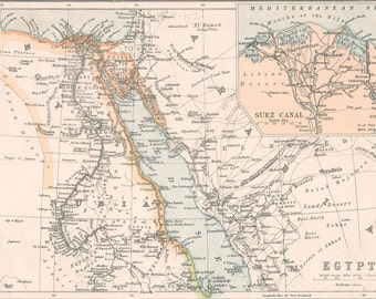 Cairo Old Map Cairo Egypt Egypt Map Nile Suez Canal