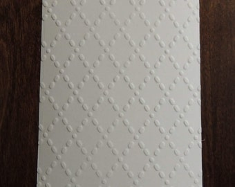 Quilted Diamonds,  Embossed Cardstock, Embossed Sheets, Embossed Card Fronts