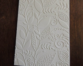 Country Leafs Pattern Embossed Cardstock, Embossed Sheets, Embossed Card Fronts