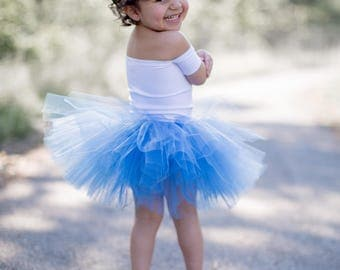 Cinderella blue tutu, baby tutu, first birthday tutu, full tutu, smash cake tutu, photography prop, wedding tutu, expecting mom gift