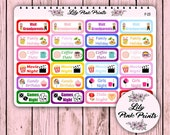 24 Fun Event Stickers F-23 - Perfect for Erin Condren Life Planners / Journals / Stickers.