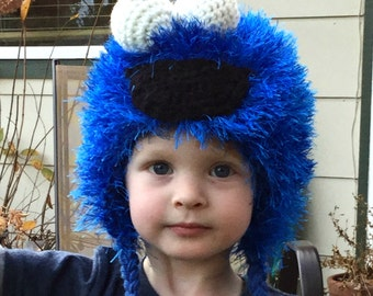 Cookie Monster Hat, Cookie Monster, Sesame Street Hat, Cookie Monster Party, Kids Monster Hat, Furry Kids Hat, Kids Costumes, Character Hat