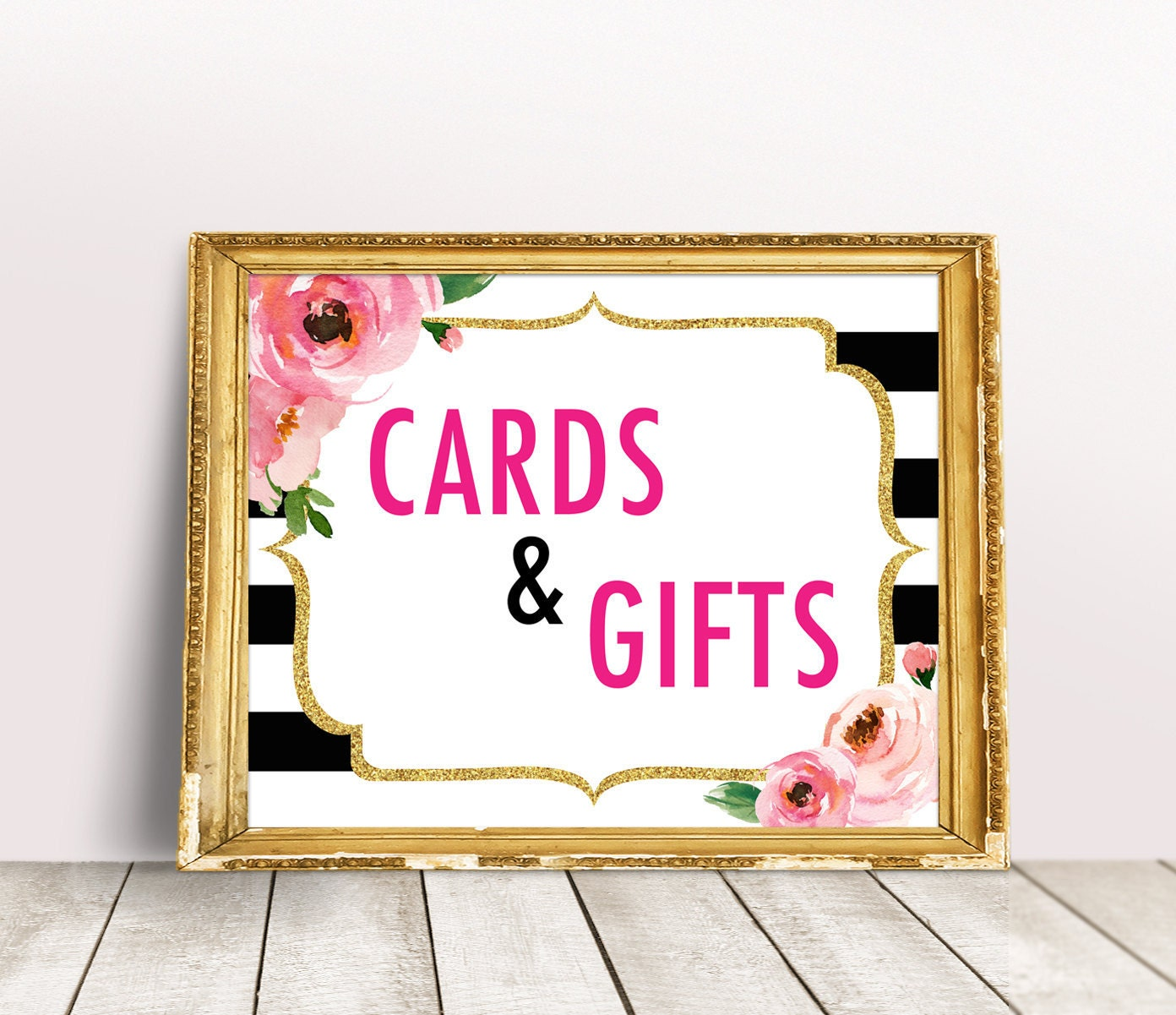 Online Gifts For Wedding: Cards And Gifts Sign Kate Bridal Shower Sign Spade Party