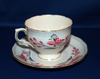 Vintage Colclough Teacup and Saucer Bone China Tea Cup A2 Ridgway Potteries English Tea Party