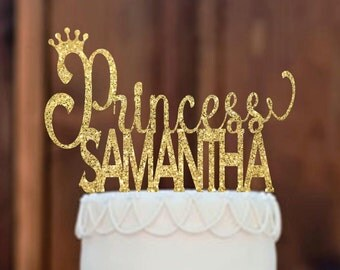 Cake Topper, Baby Shower Cake Topper, Princess Cake Topper, Birthday Cake Topper, Princess Cake, Party Decorations ,First Birthday