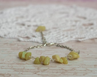 Jade beaded bracelet, Green jade bracelet, Jade stone bracelet, Jade bracelet, Small jade bracelet, Green stone bracelet