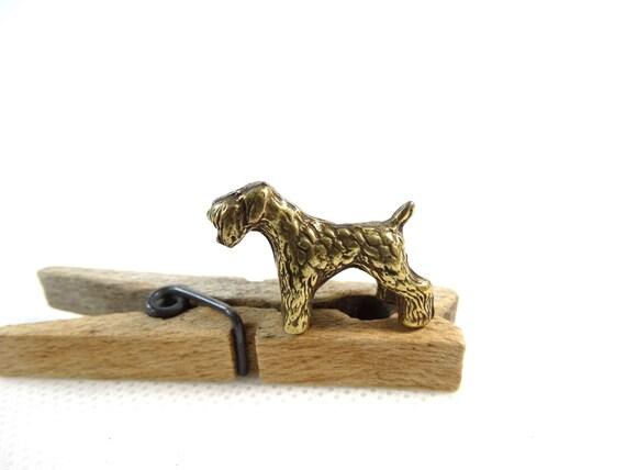 Vintage brass dog figurine terrier