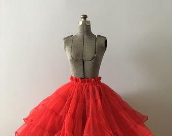 Vintage Full Red Petticoat