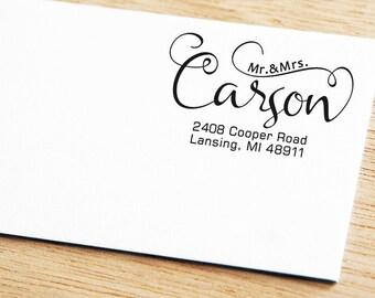 Return Address Stamp, Address Stamp,Modern Calligraphy Return Address Stamp,Wedding Address Stamp, Personalised Stamp,Self-Ink Address Stamp