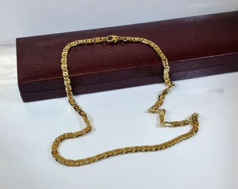 Link chain gold plated necklace 925 Silver SK306 rarely rar