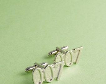 007 cufflinks / Silver Tone