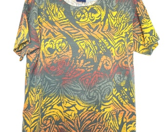 Ladies Vintage abstract tee UK 12