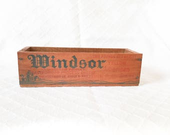 Windsor Club Cheese Box, Vintage Wooden Cheese Box, Old Wood Cheese Box