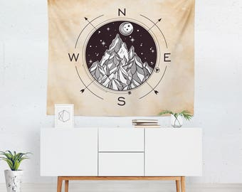 Compass Tapestry | Compass Wall Tapestry | Compass Wall Décor | Compass Tapestries | Compass Wall Art | Compass Art | Compass Décor