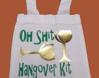 Oh Sh*t Hangover Mini Tote Party Favor Bag